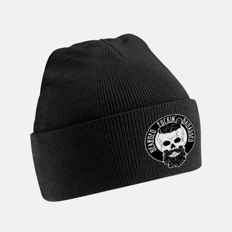 Bearded Badasses Beanie Black